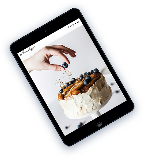 food blogger Mobile template