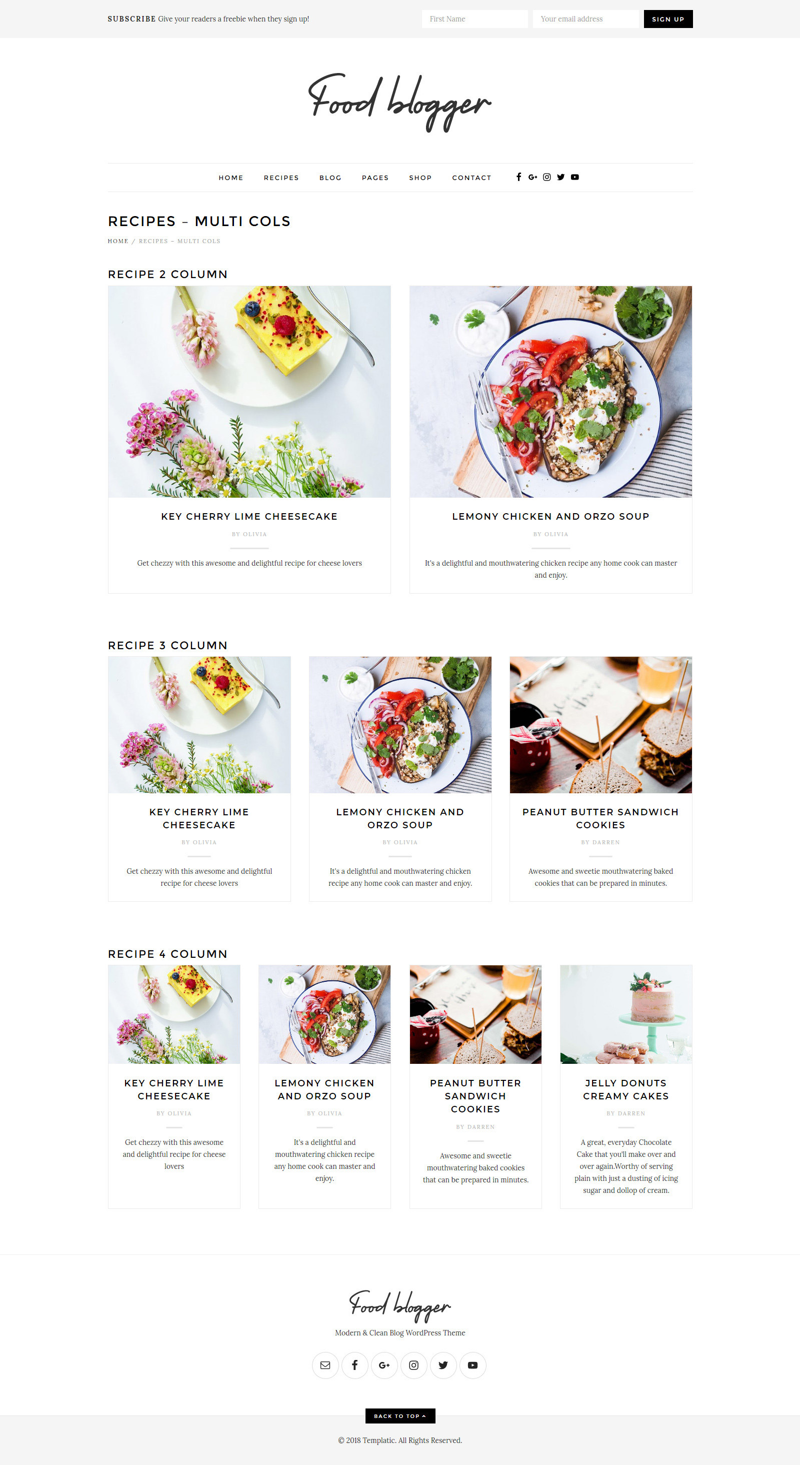 1 Food blogger & recipe WordPress theme [2019] for chefs