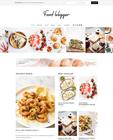 Blogging theme for chefs & cooks