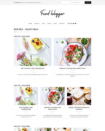 WordPress Theme for chefs, food bloggers