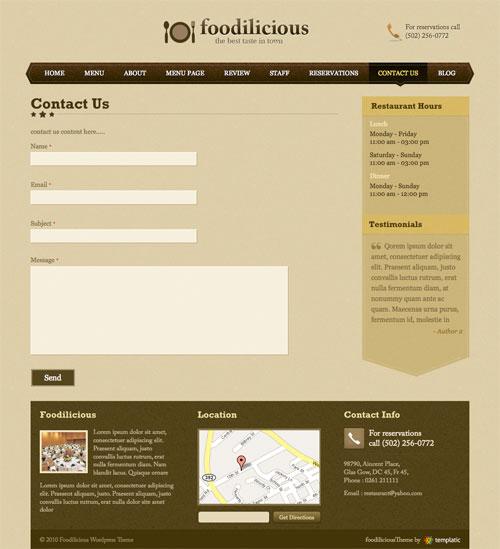 Contact Us Template For Wordpress - Wordpress Themes Gala, The Big ...