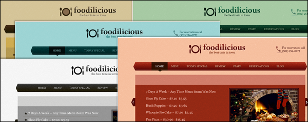 Different color scheme for Foodilicious theme for WordPress