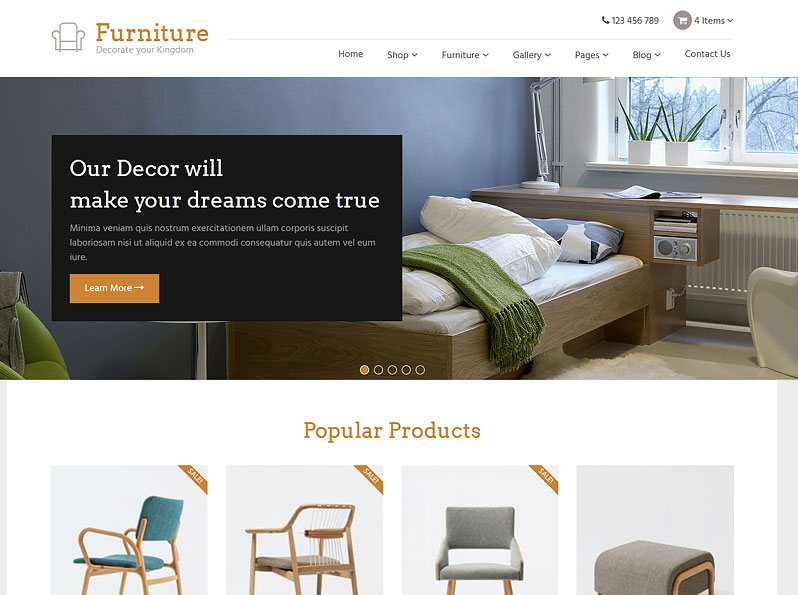 Furniture Theme For WordPress