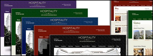 Four color scheme - hospitality Theme WordPress