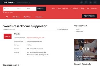 Templatic Jobs Directory WordPress theme