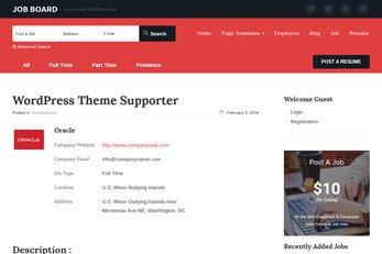 Templatic Jobs Directory WordPress theme
