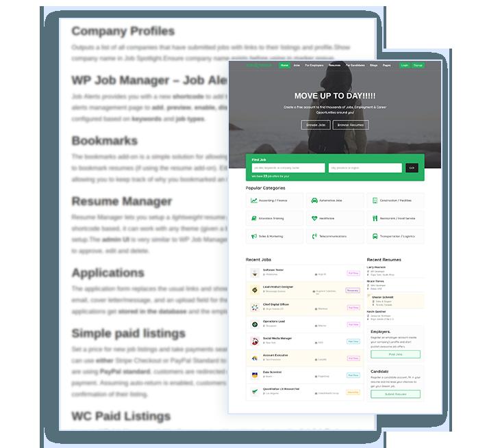 job finder WordPress theme