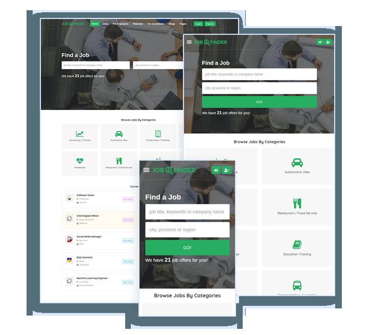 job board template WordPress