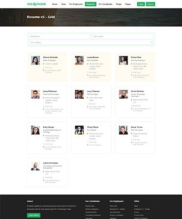 Job Finder WP theme