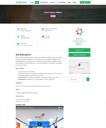 Theme for online Job Board website