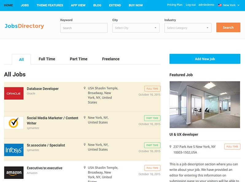 Jobs Directory Theme