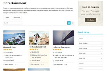 Customizable WordPress Listing Theme