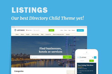 Listings Directory WordPress Theme
