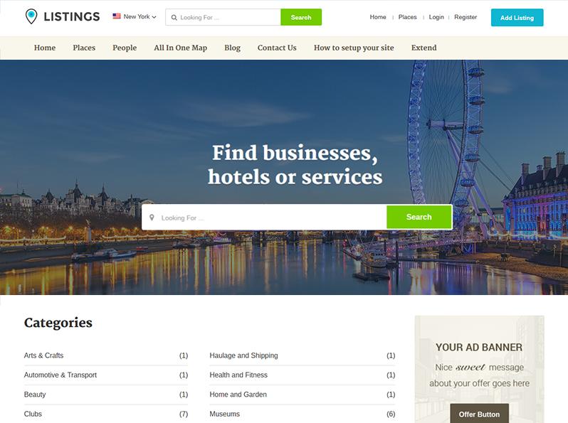 Listing Directory Theme