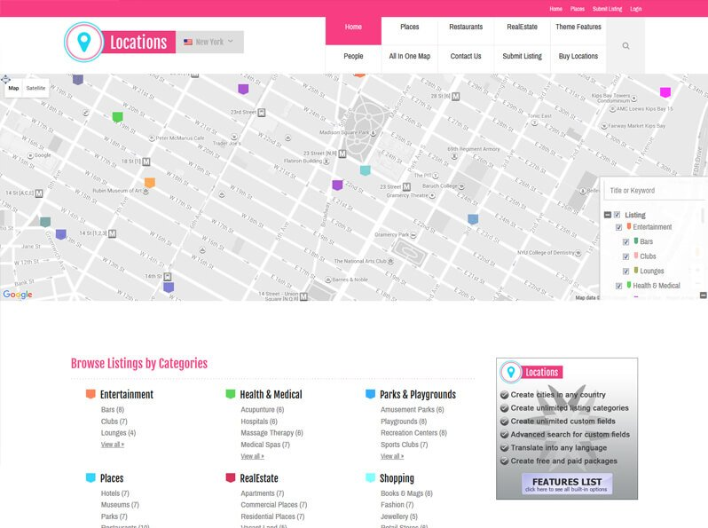 Locations Directory Theme