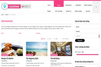 Locations Directory Theme Listing Category Page