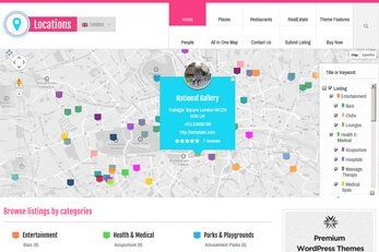 Locations Directory Theme Homepage