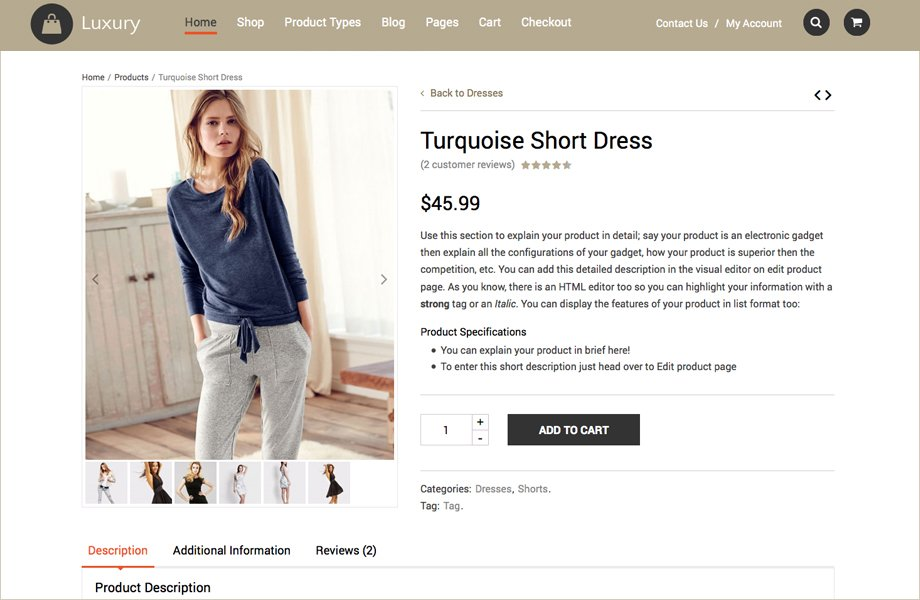 Luxury WordPress Ecommerce Theme