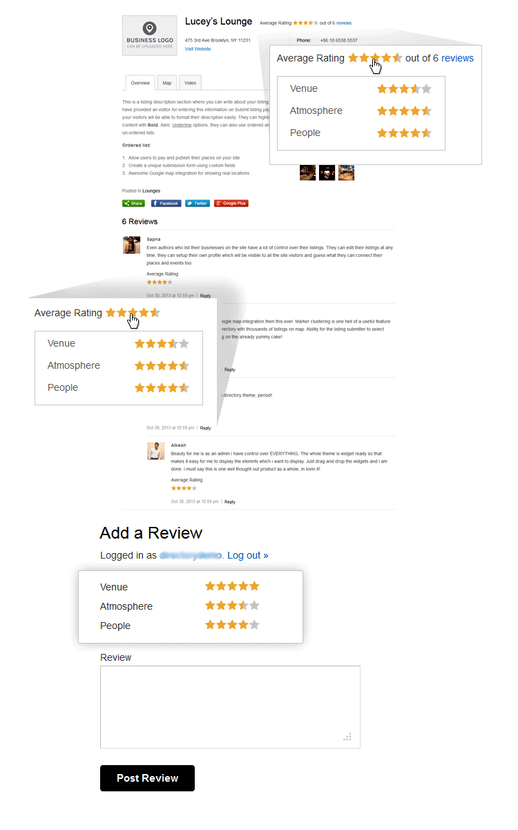 multi star rating plugin