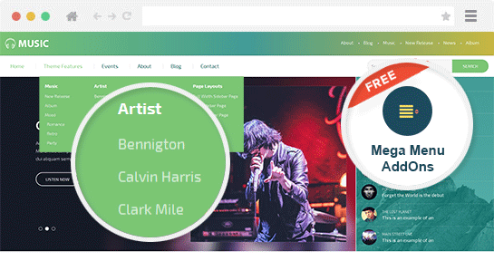 Bands and Musicians WordPress Theme