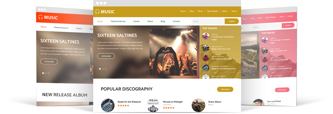 Bands and Music WordPress Theme