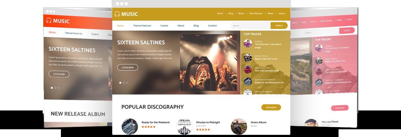 Bands and Music WordPress Theme