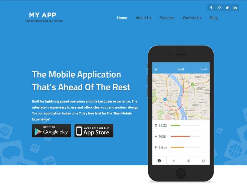 Myapp Theme - Mobile App WordPress Themes
