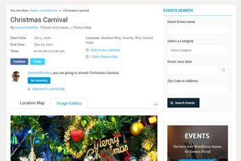 Event Detail Page