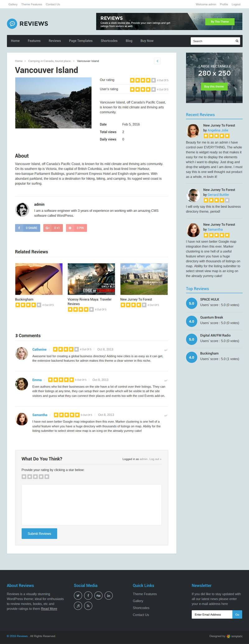 Product Reviews Theme