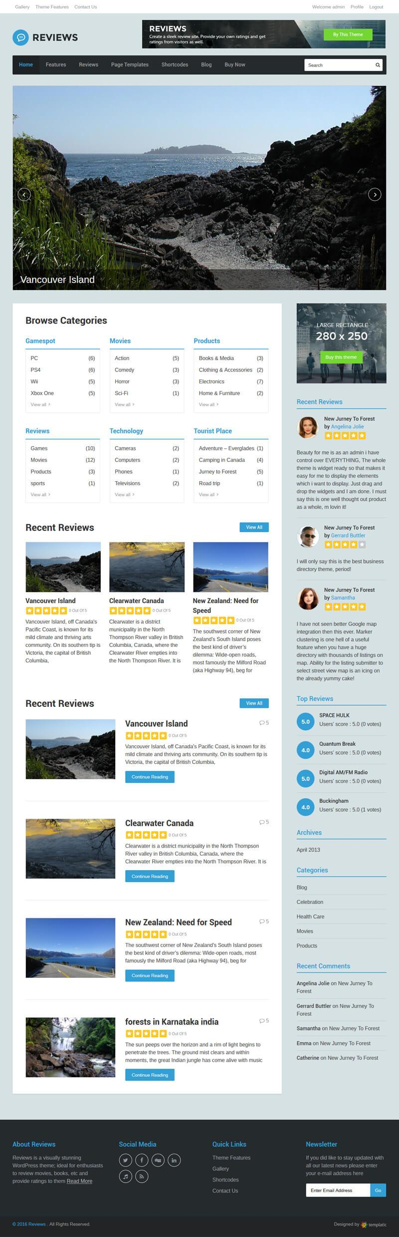 Ratings and reviews Directory software theme