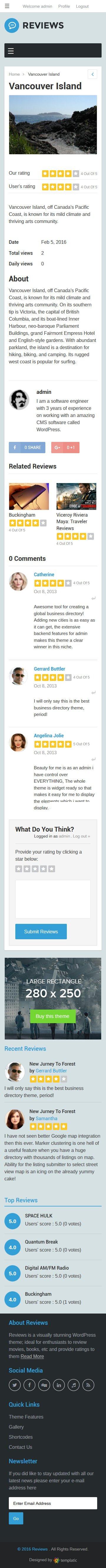 Mobile Friendly Reviews Theme
