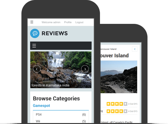 Responsive And Mobile Friendly Reviews Theme