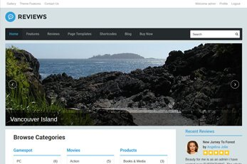 WordPress themes for review sites