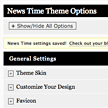 News theme WordPress - Custom control panel