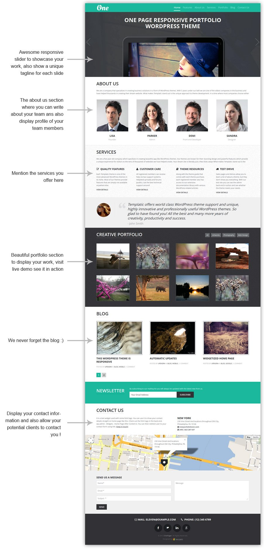 WordPress OnePager Theme