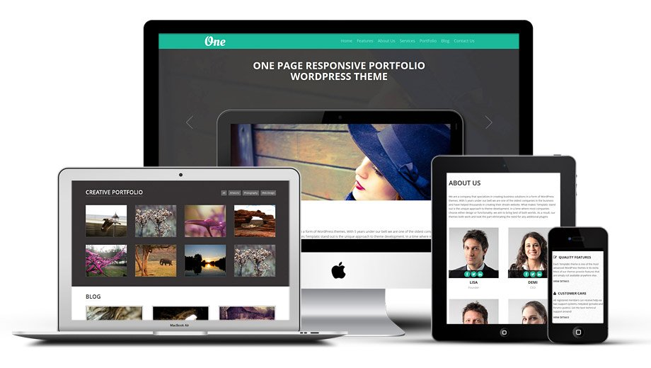 WordPress One Page Portfolio Theme
