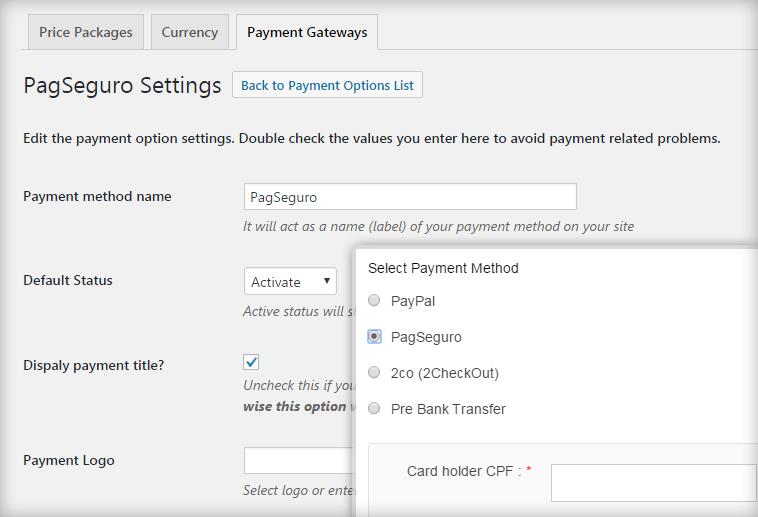 Install PagSeguro Brazilian Payment Gateway Plugin