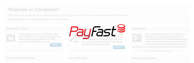 Payfast Paymet Gateway WordPress Plugin