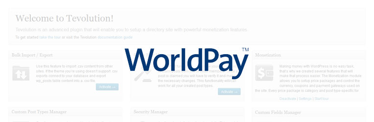 WorldPay Payment Gateway WordPress Plugin