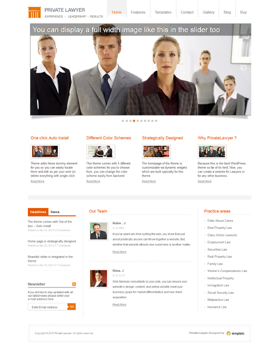 Buy Lawyer WordPress Theme for Attorney & Legal Firm [2018]
