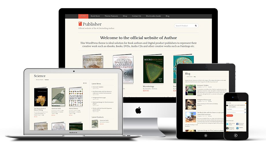 Fully Responsive Publisher WordPress Theme