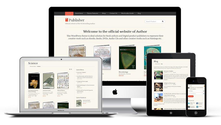 Fully Responsive Publisher WordPress Theme