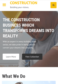 Templatic Construction WordPress Quick Edit Theme