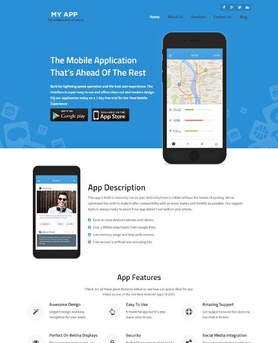 Buy mobile app wordpress theme website template 2018 myapp maxwellsz