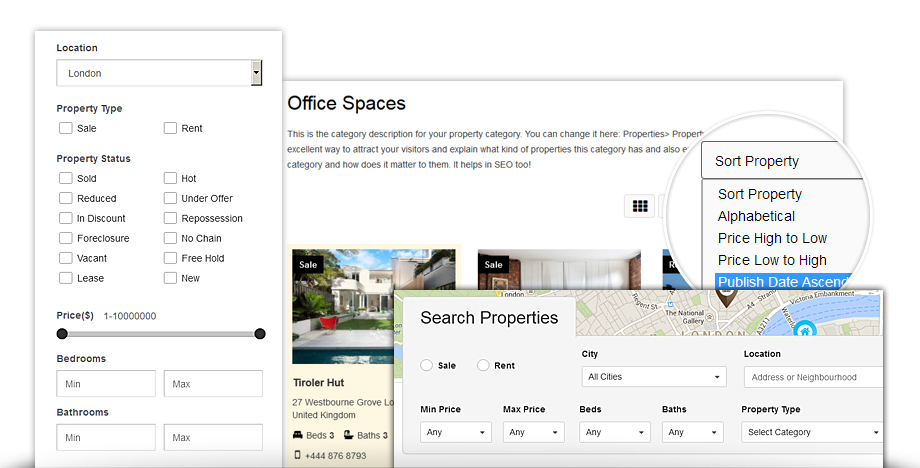 Real Estate Directory addon is used to create porperty listing with powerful filter options for users.