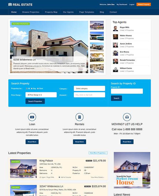 Best Real Estate Wordpress Theme Property Listings