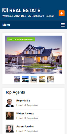 mobile friendly real estate theme