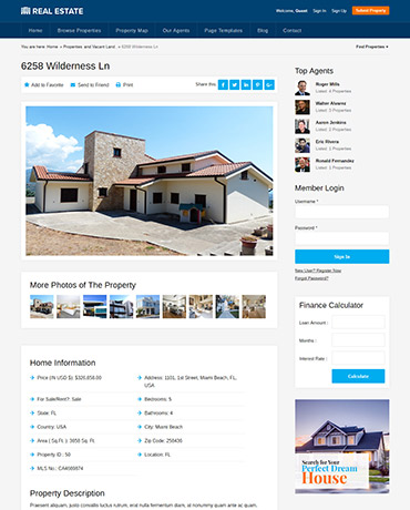 Realtors WordPress Theme