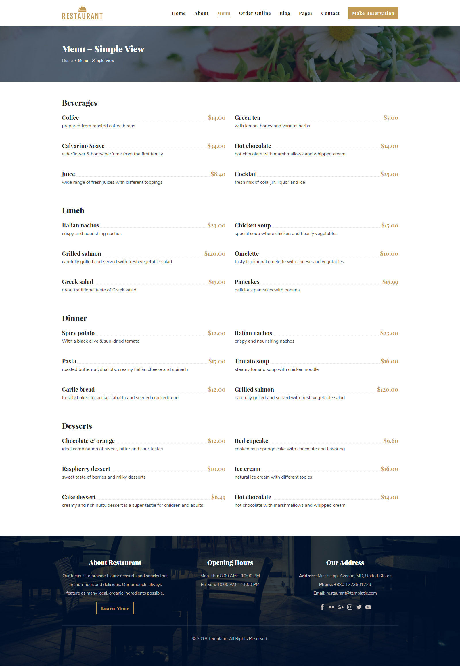 1 wordpress restaurant theme  2019  with booking
