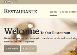 Home page of Restaurant wordpress theme
